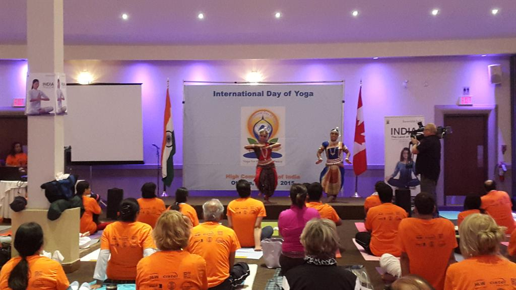 Inauguration of International Day of Yoga in Ottawa organised by High Commission òf India http://t.co/bjVtwcUGbR