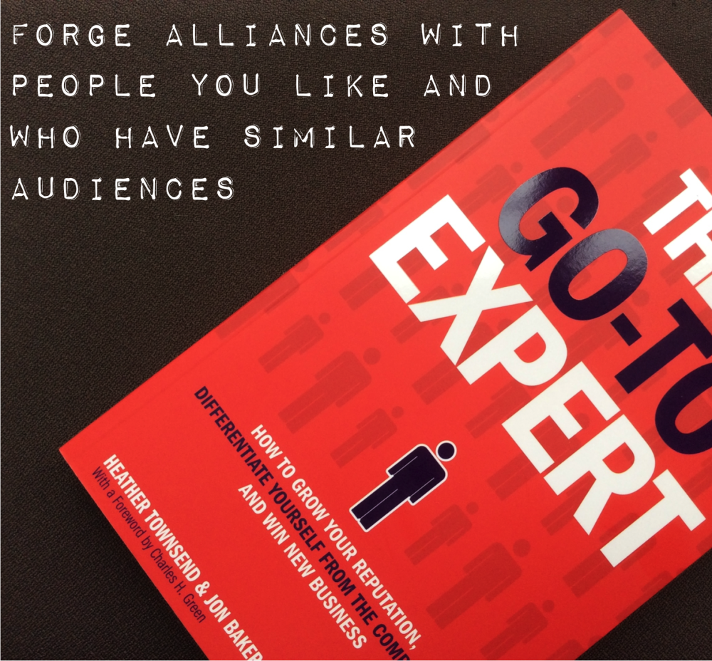 Forge alliances with people you like and who have similar ideal clients or target markets http://t.co/Qm3sFbLDV7 http://t.co/7QQto86dXo