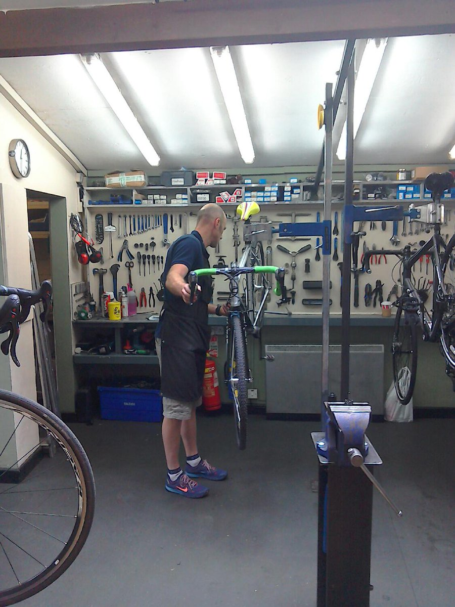"""Cycle Heaven on Twitter: """"Hard at work in the workshop ..."""