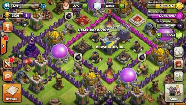 coc free gems 2015