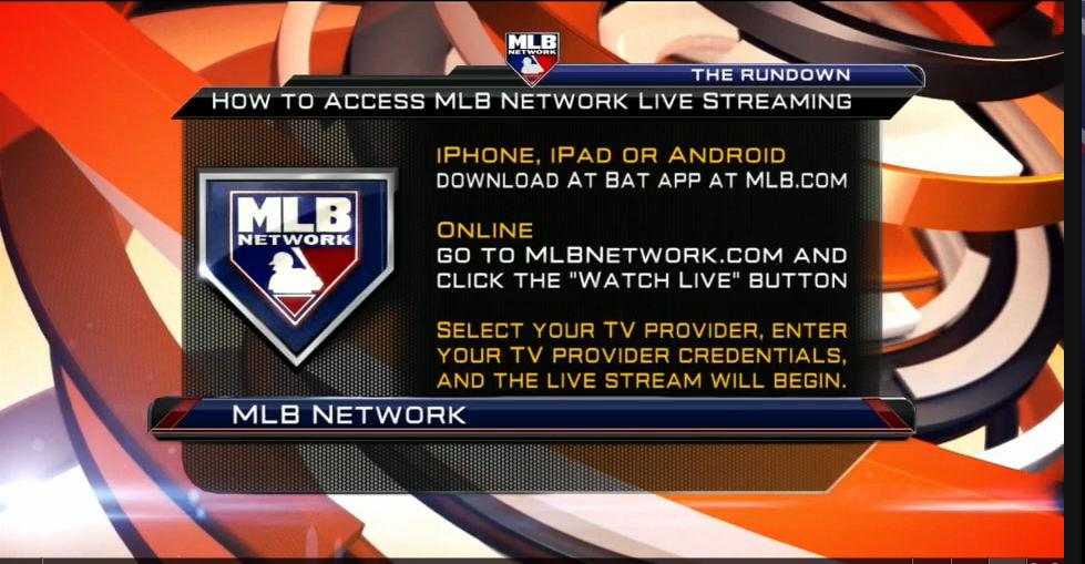 Log: Now you can watch @MLBNetwork anywhere! Log in w/ your TV