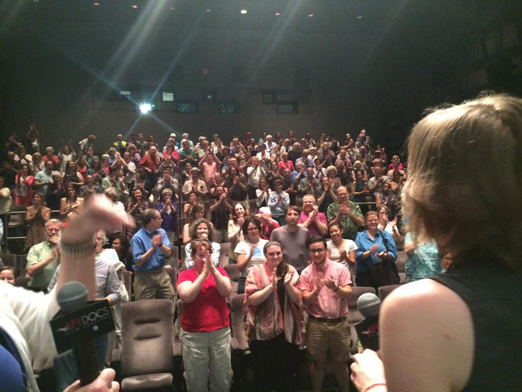 Standing ovation from packed house for @RadGraceFilm and @RebAPar at @AFIDOCS @KindlingGroup http://t.co/4HiYMSnLyE