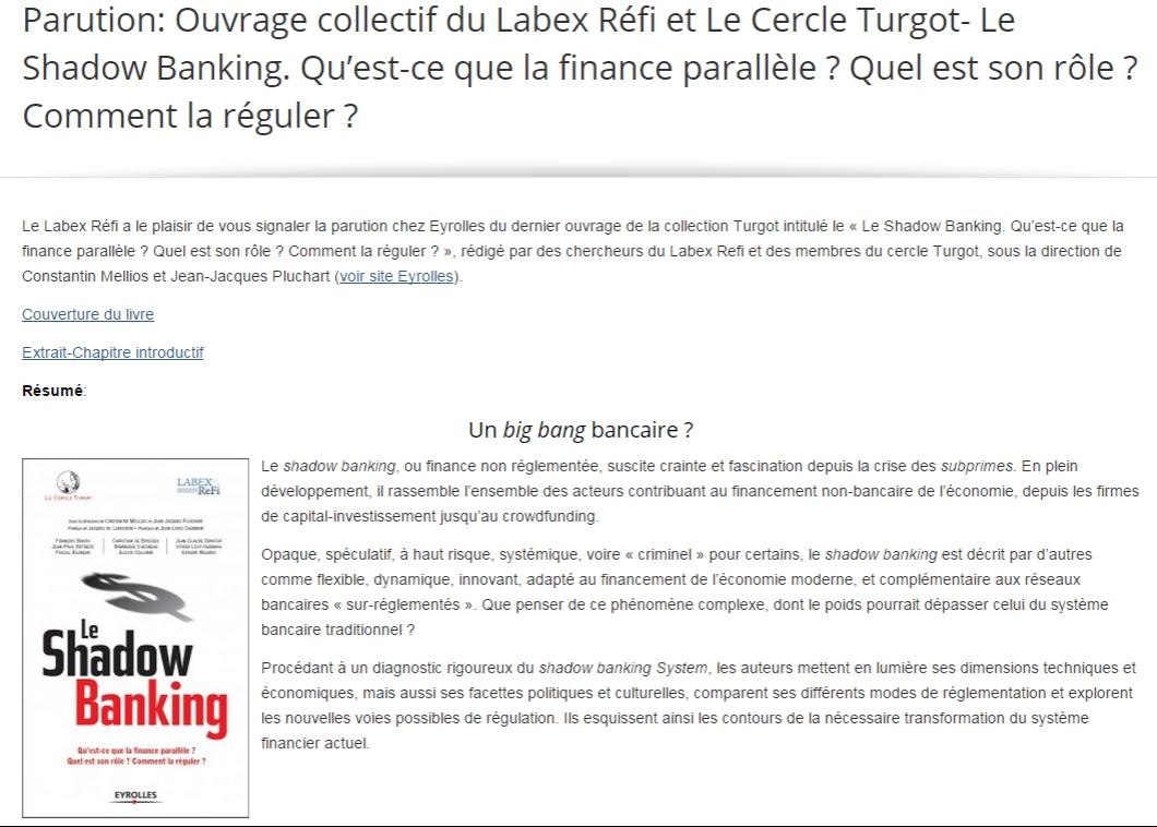 Labex Refi On Twitter Ouvrage Labexrefi Et Cercle Turgot