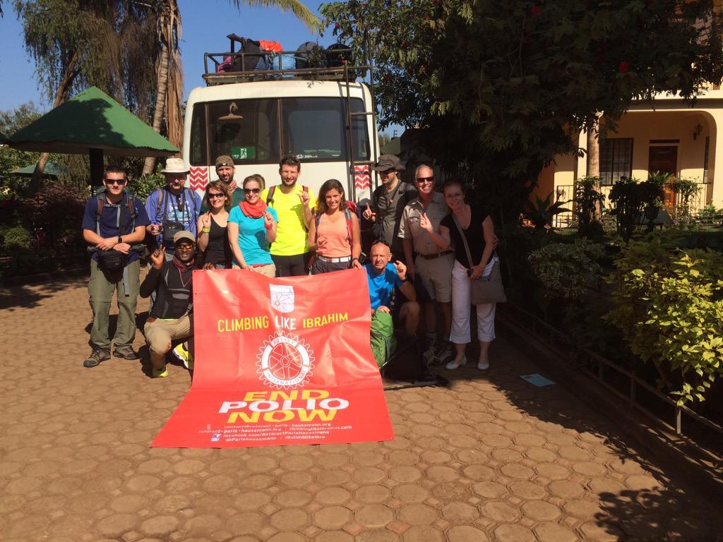 Ready to @ClimbLikeIbra to @EndPolioNow @Rotary http://t.co/nURFNDpm4n