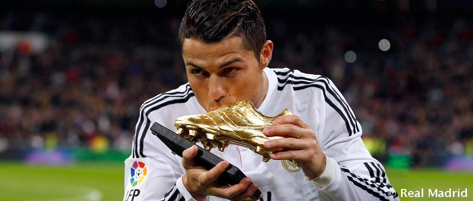 BOTA DE ORO: Disfruta en este vídeo con los 48 goles que marcó @Cristiano en la Liga... http://t.co/mi9k9FUTi0 http://t.co/ESeMyP7Gpk