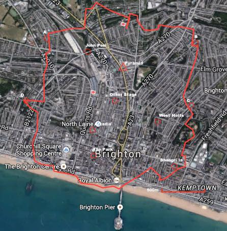 James Turnbull made this on Facebook: #Glastonbury site map placed over #Brighton. Basically, the whole of Brighton http://t.co/KJx8XXp3SH