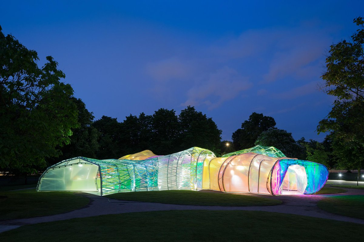 Unveiled today - first photos of the 2015 #SerpentinePavilion by #selgascano. Opens to the public on Thursday 25 June http://t.co/5KhHUZrfKY