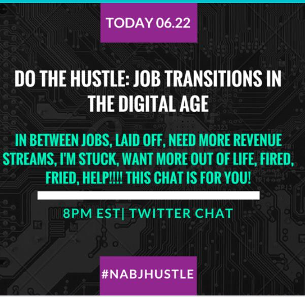 Do the Hustle, Twitter Chat TONIGHT 8pmEST #nabjhustle @benetwilson @nextgenradio @nickimayonews @C3Newsman plz share http://t.co/Ov6X93jnpb
