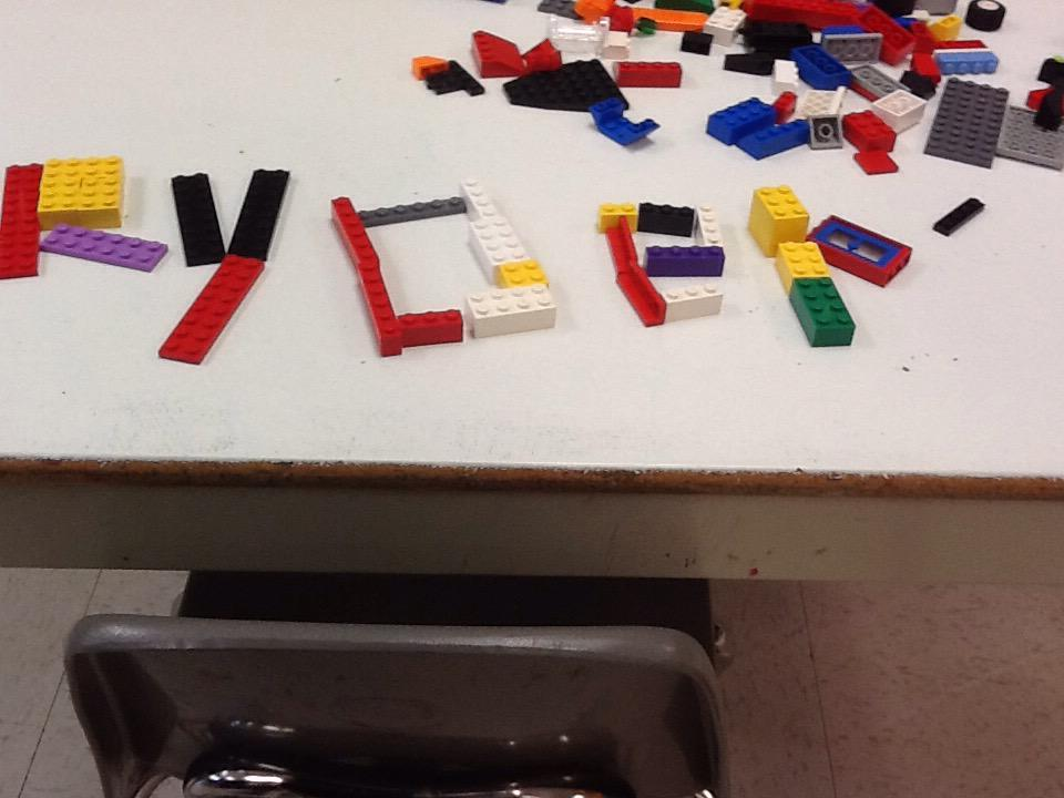 This is my name out of lego #legochallenge1 http://t.co/ANlURbJlXL