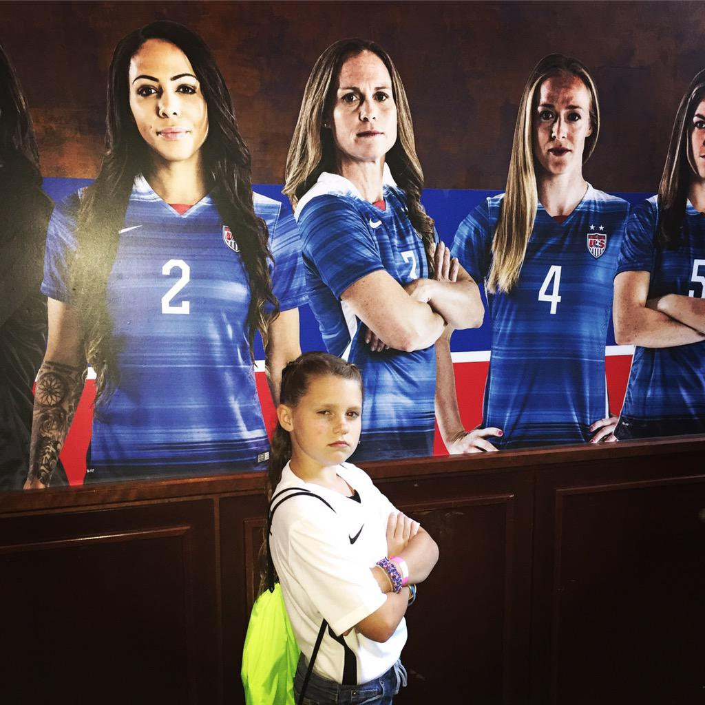 Game Face! #USAvCOL #SheBelieves http://t.co/MdbeBvfxCR