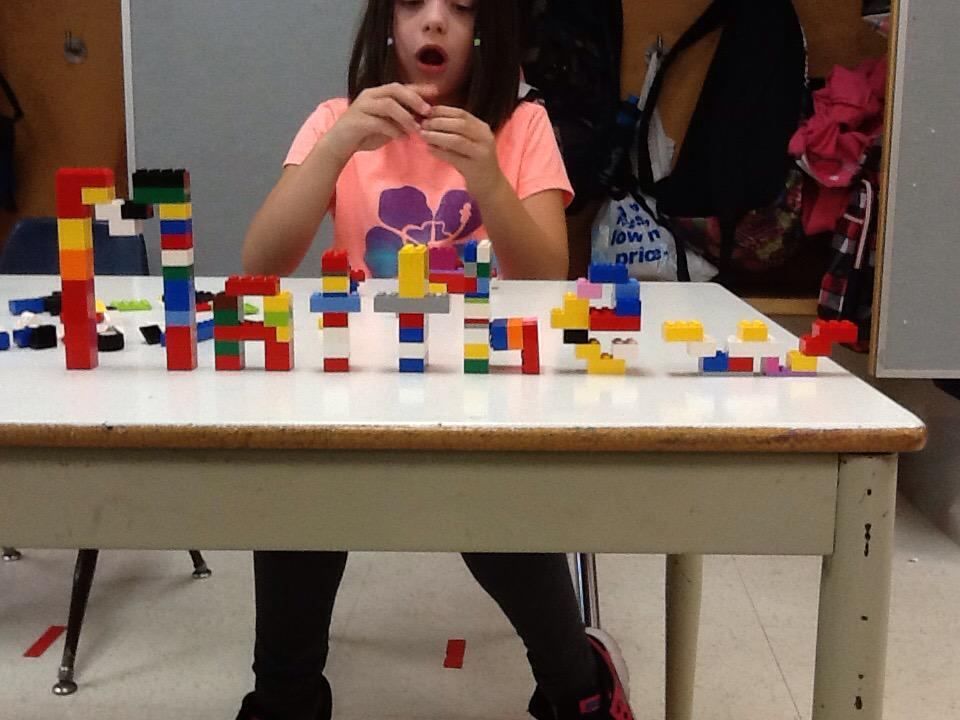 I. Made my name out of Lego. #legochallenge1 http://t.co/3XcAE5ebDR