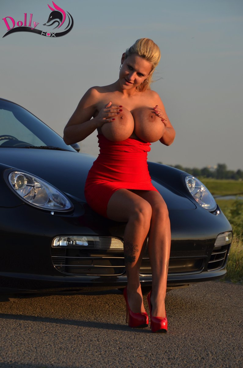 Built-In XXL Double Airbags: Huge Boobed Girls In/With Cars
