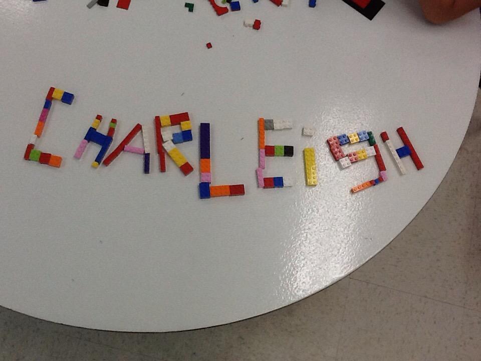 Building my name #legochallenge1 http://t.co/vwlOvRkj83