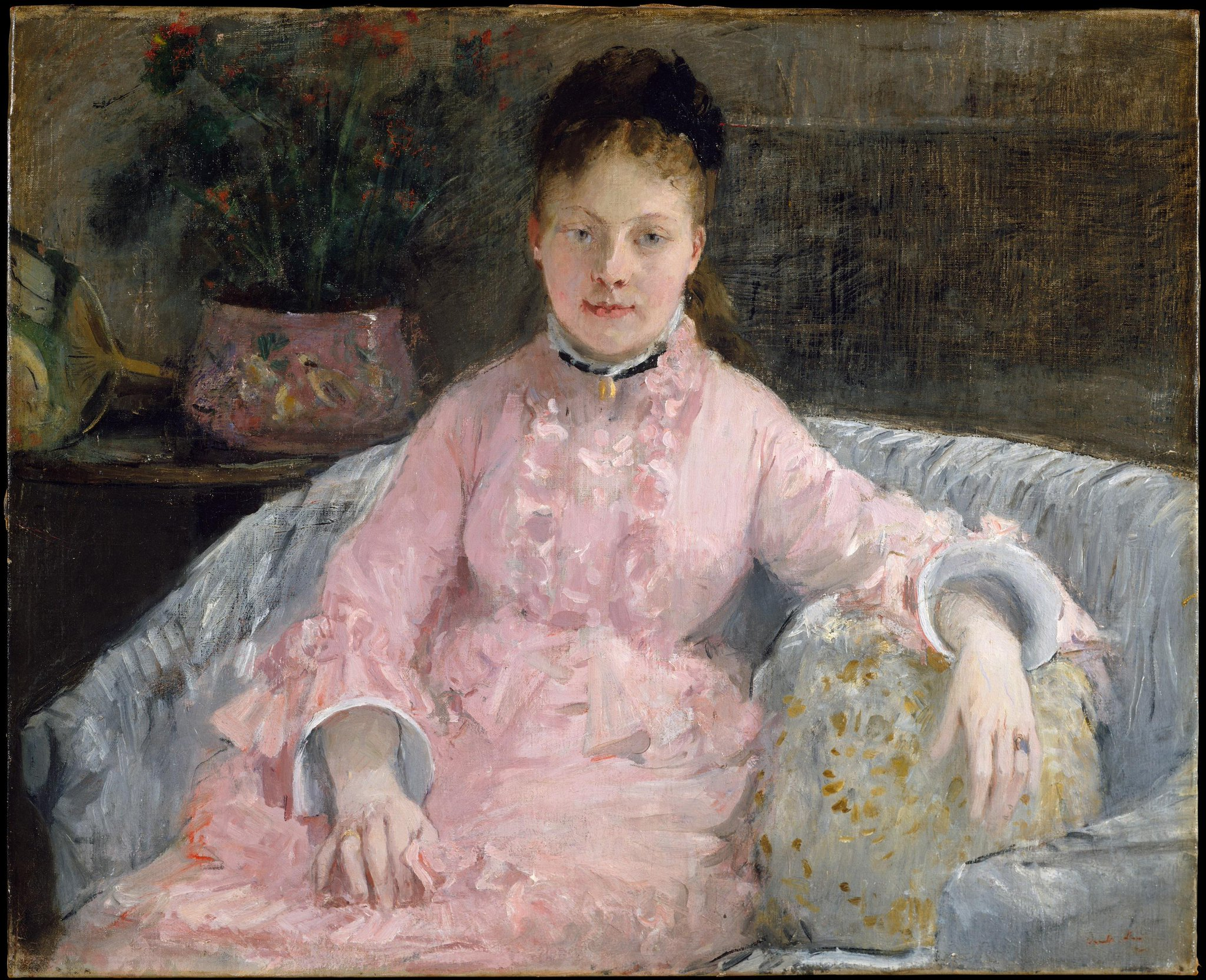"""The Metropolitan Museum of Art on Twitter: """"Did you know it's  #NationalPinkDay? Celebrate with Berthe Morisot's """"The Pink Dress.""""  http://t.co/uHojmz4GzO http://t.co/mW4Cb8CdXi"""""""