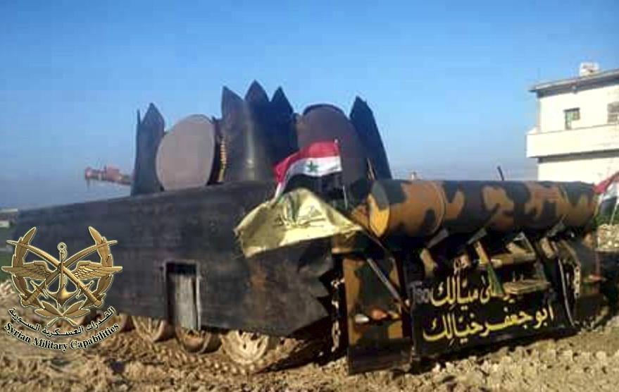 الوحش الفولاذي لدى قوات الجيش السوري .......الدبابه T-72  CIIcLO9WIAAb0FP