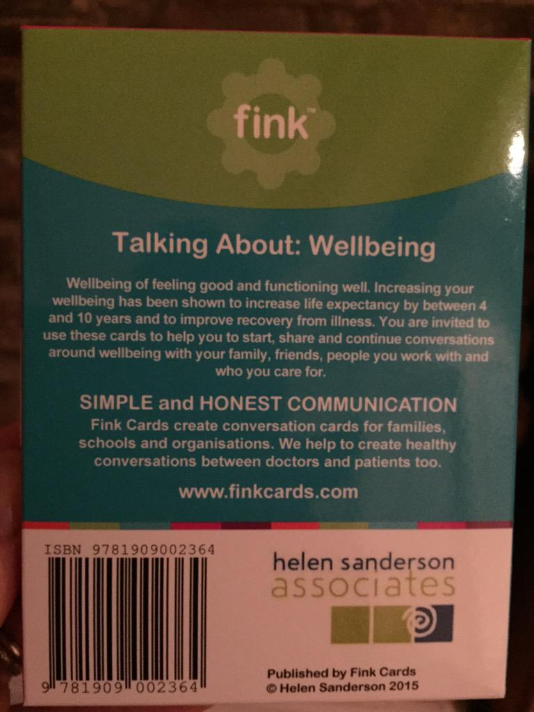 Love the new #fiveways to #wellbeing @finkcards -thank you @HelenHSAUK I look forward to using them at next training http://t.co/9yEd8eyV45