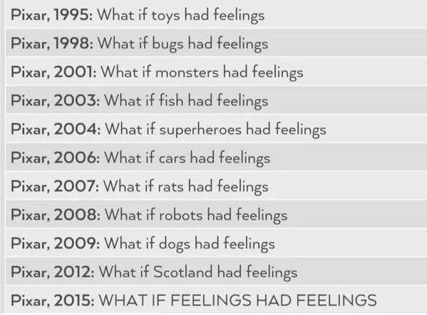 Pixar is a lot of feelings. http://t.co/Dq9xxUmcIE