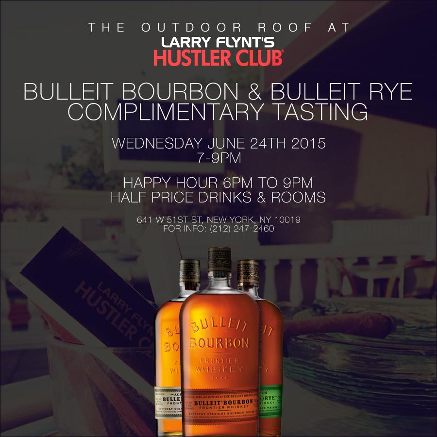 #Humpday tasting with @BulleitUSA Free 7-9. #Women, Whiskey, Weather. 3w's of #NYC #Summer #stripclubanddollarbills http://t.co/1KFzyPlsif