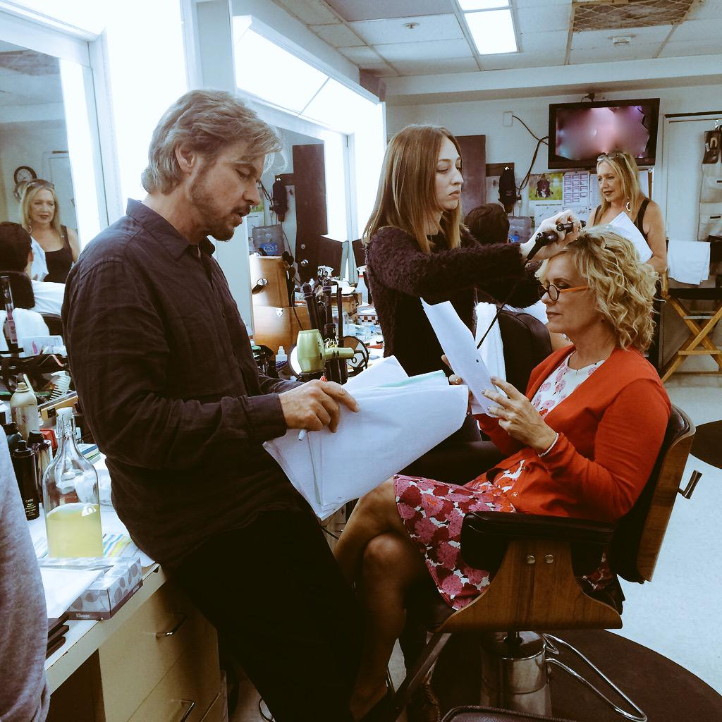 Happy Monday! Here's a little #bts look at @officialnichols & @marybeth_evans1 running lines in Salem! #days #Days50 http://t.co/QFo69IUsDy