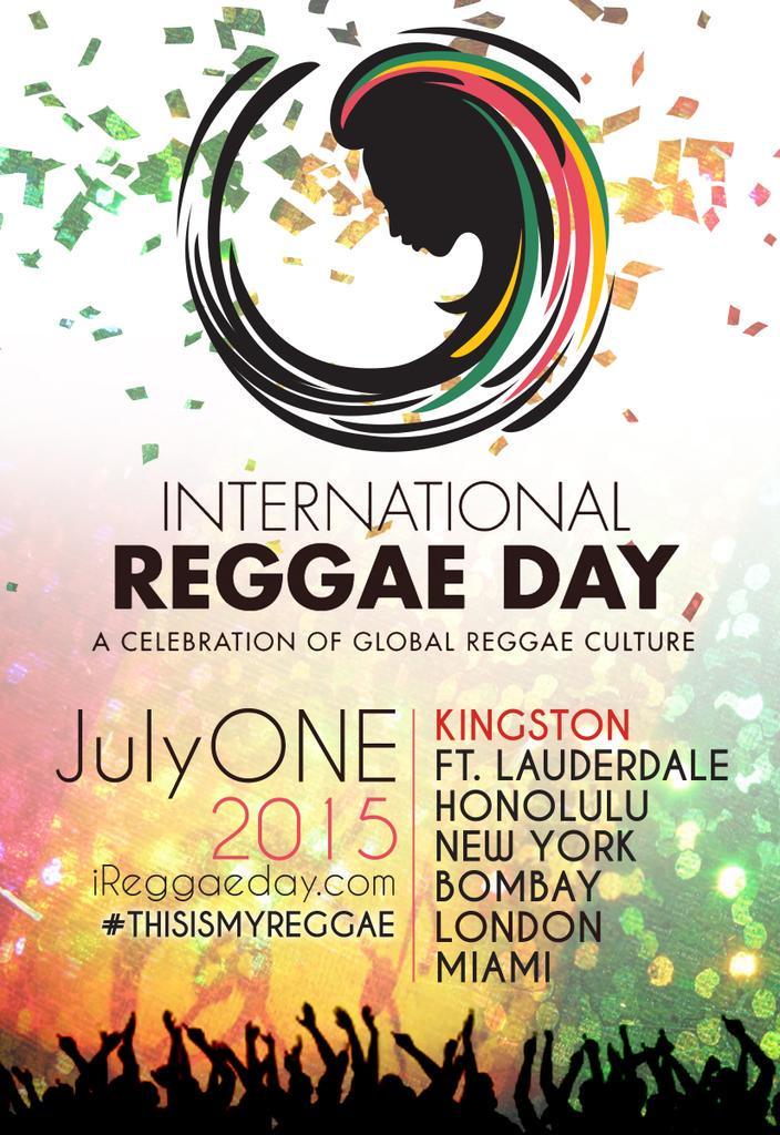 International Reggae Day is almost here!!! How do you REGGAE? @BobMarleyFDN  @cedellamarley #ThisIsMyReggae #JulyOne http://t.co/Xzv2UGAgT4
