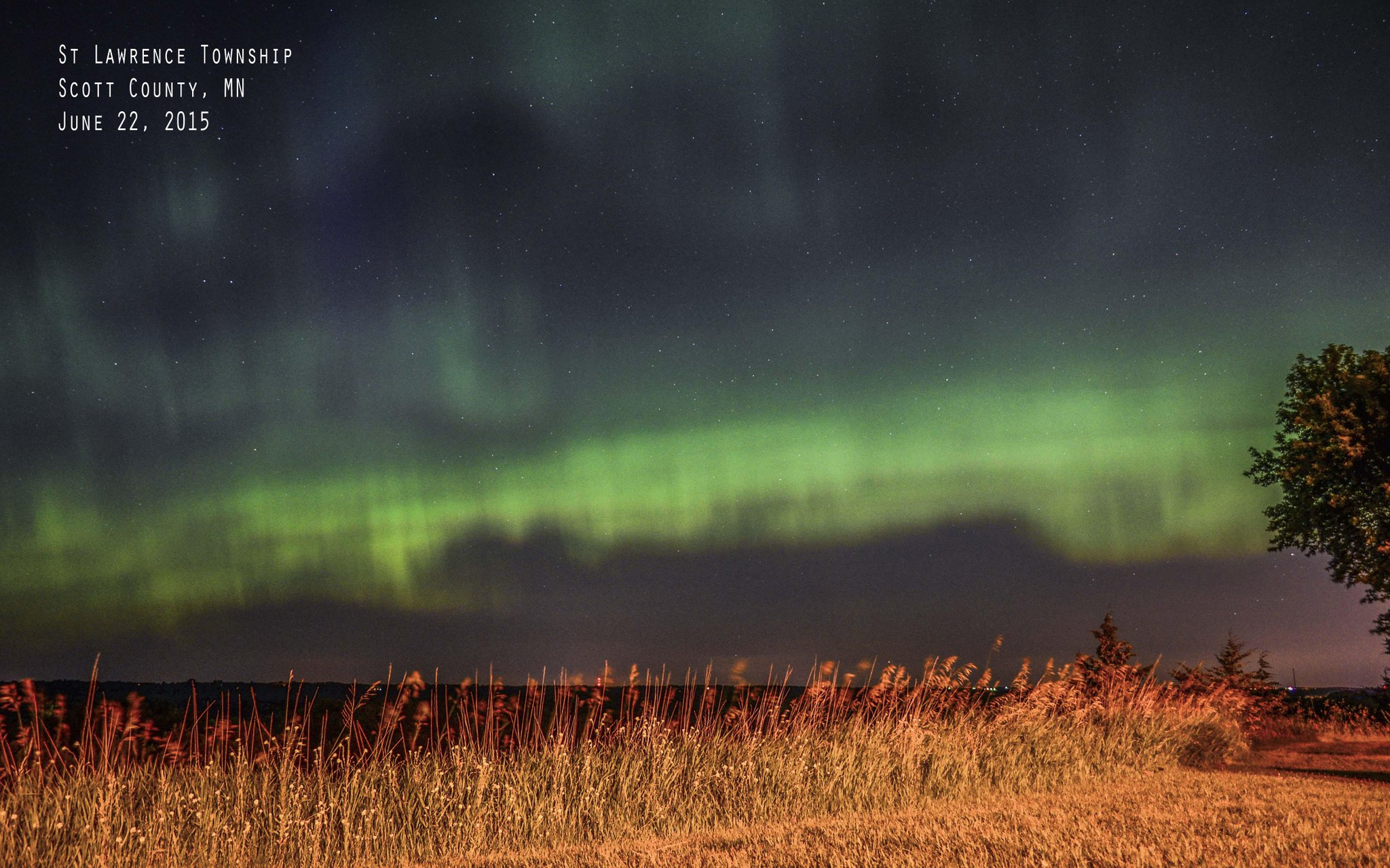 northern lights in scott county, mn near Minneapolis, MN