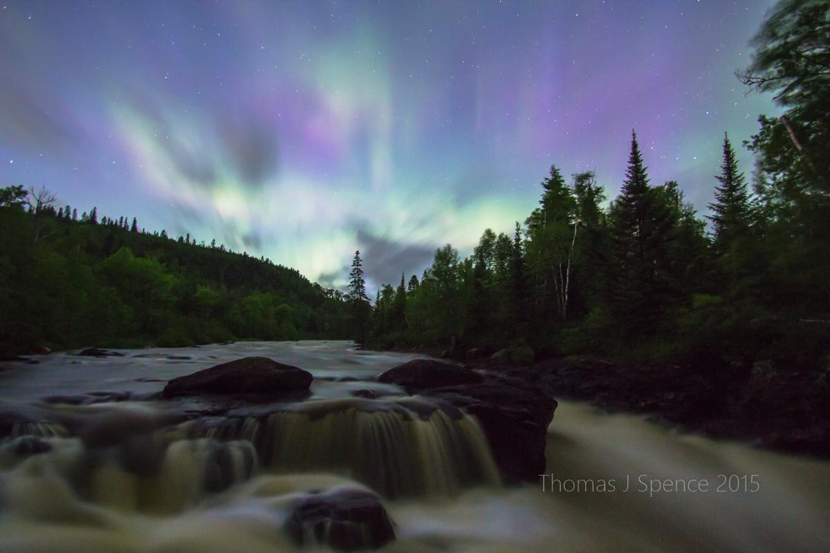 Temperance River #aurora #northernlights near Tofte #Minnesota http://t.co/S1cP0pvH8c