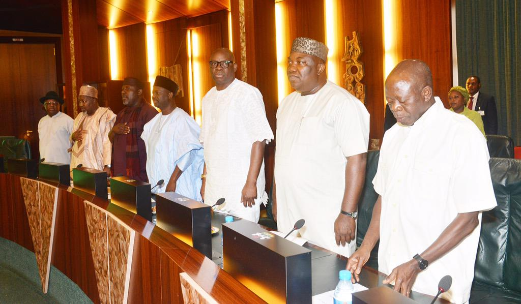 buhari meets 36 state governors aso rock