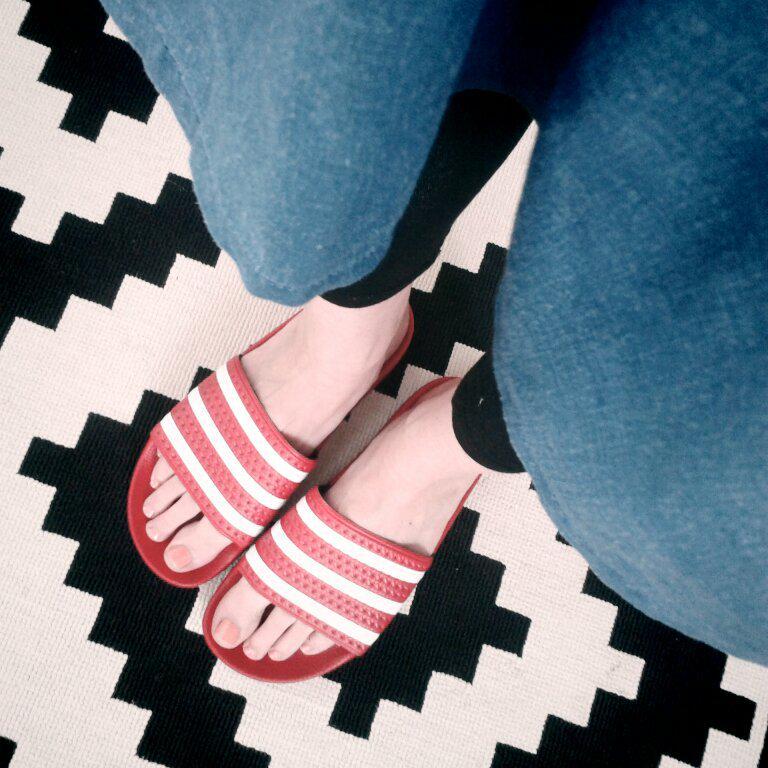 rote adiletten fashion shoes