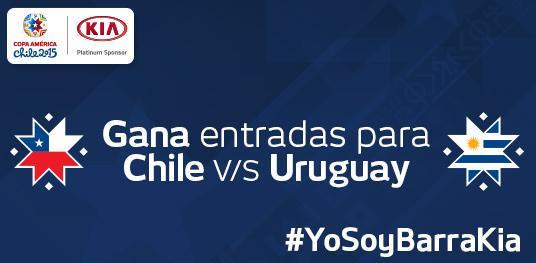 ¡GANA ENTRADAS CON #KIA! Escríbenos o RT #YoSoyBarraKia y quiero ver #Chi #Uru en @CA2015. Sorteo 23/6. #KiaPasión http://t.co/BZ3HNL6a1P