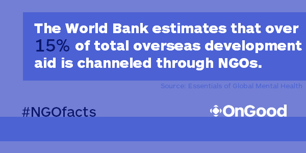 #NGOfacts @WorldBank estimates more than 15% of overseas development aid is channeled through NGOs. #InterActionForum http://t.co/pD5rqZSl1W