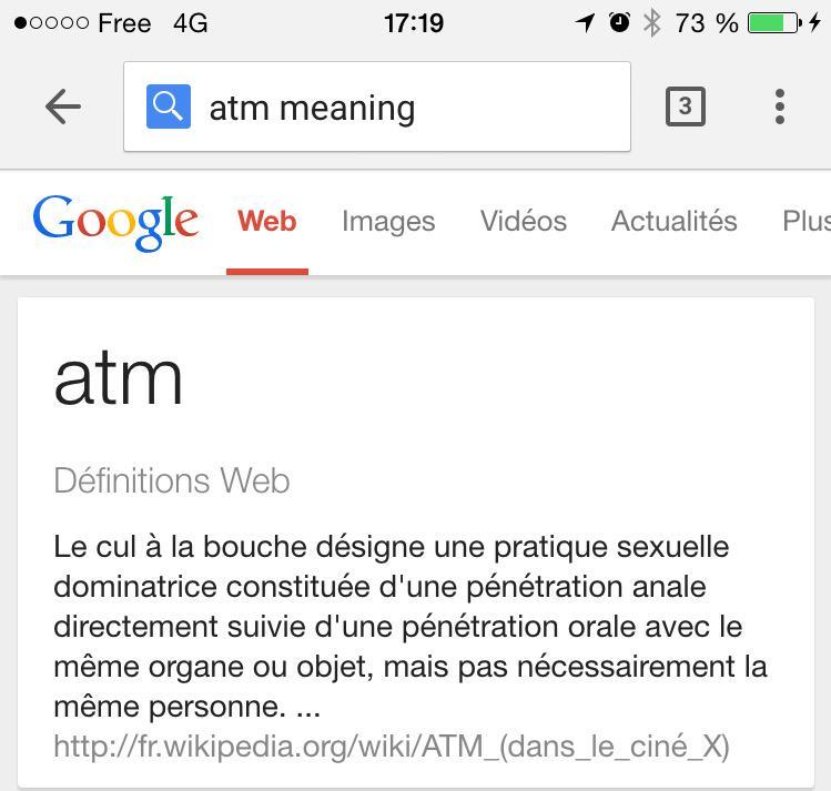 Julien On Twitter Je Cherchais La Definition D Un Atm En Anglais