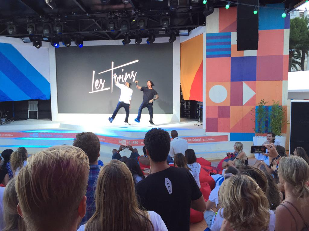 Watching the incredible YouTube stars @offlestwins at the @Google beach #OgilvyCannes http://t.co/HPOU3yS7Lj