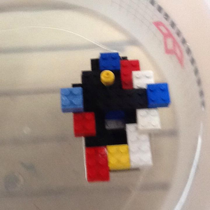 I think it floated because both of the side were equal. By Cohen #legochallenge2 http://t.co/Gg6CbwNy5A