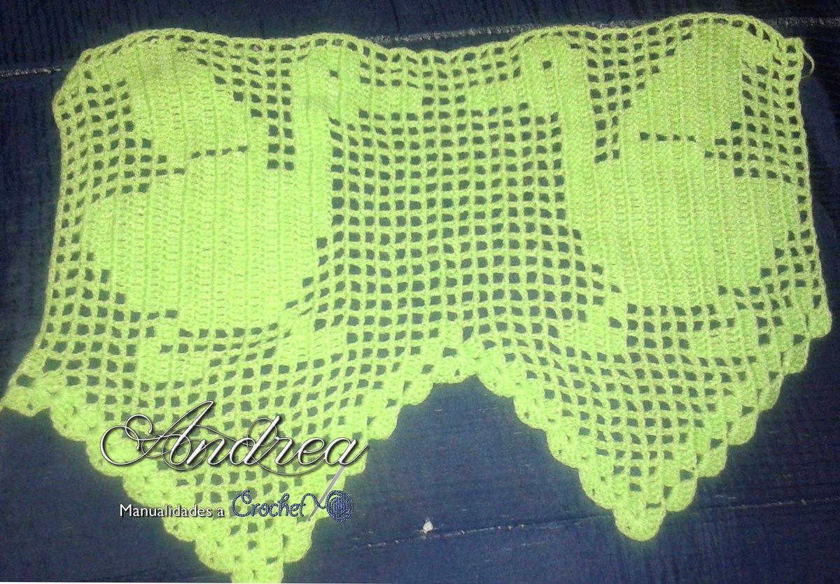 Andrea manualidades on twitter andrea tejidos crochet cenefas ganchillo punto puntored - Cenefas de crochet ...