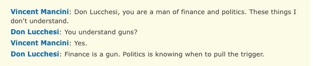 Politics is Knowing When to