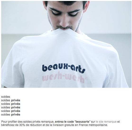 BEAUX ARTS BEAUX ARTS BEAUX ARTS  http://www. remarquestore.com  &nbsp;   #codesecret #soldesprivés<br>http://pic.twitter.com/fKzTXtNCIG