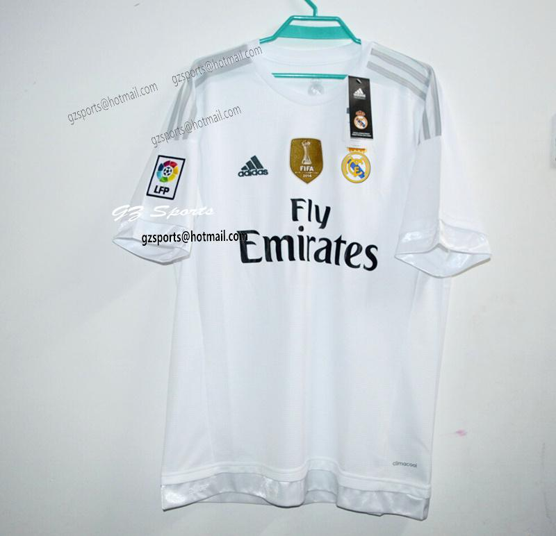 cf34f27f2a9 Real Madrid shirt 2015 16 is on sale http   www.aliexpress .com store product Top-Thai-Quality-Real-Madrid-Home-Away-Goalkeeper-2015- 2016-Adult-Soccer-Jersey ...