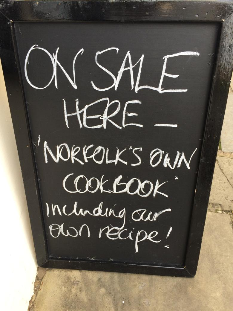 Great to see this outside @BritonsArms today! Buy your @Norfolkcookbook today! #NFAD15 http://t.co/k8m4zLkgxf