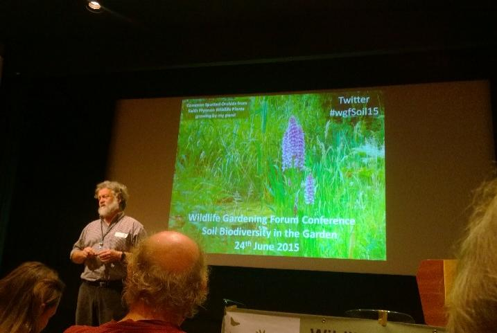 Steve Head opens the Wildlife Gardening Forum conference