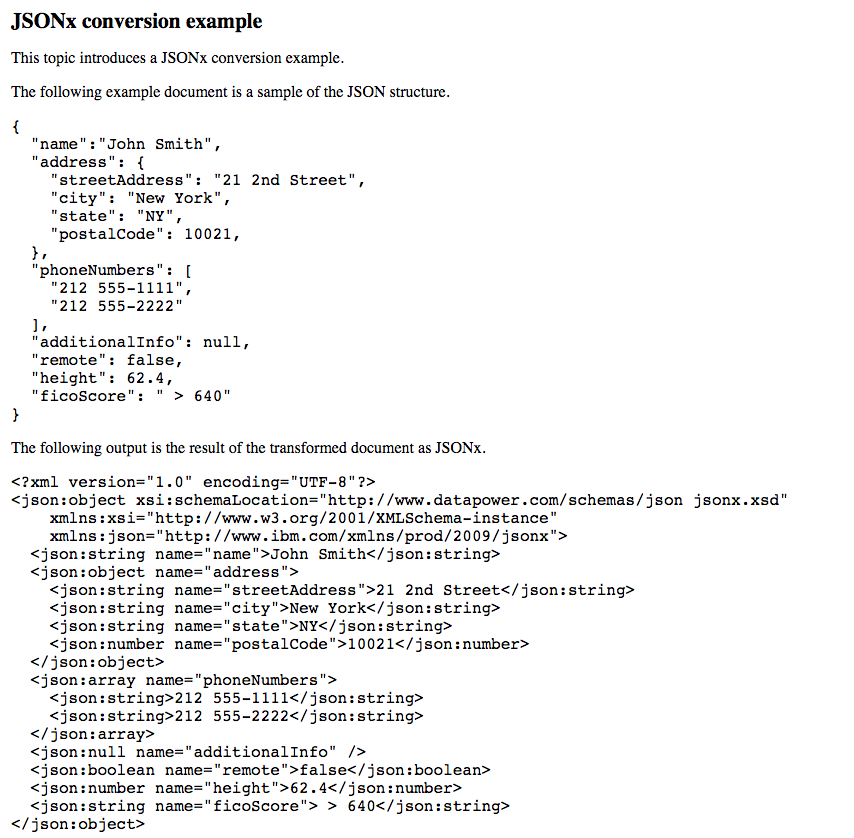 If (like me) you're having fun playing with XML, remember you could be playing with JSONx by IBM. http://t.co/bXyFKfXCjr