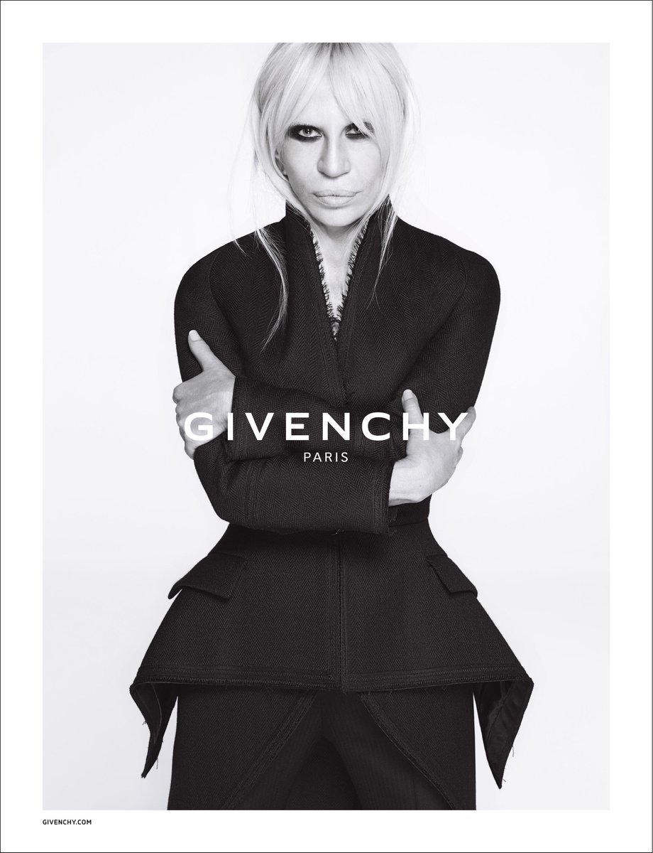 Presenting #DonatellaVersace in the #Givenchy by Riccardo Tisci Fall Winter 15 Advertising Campaign @Versace