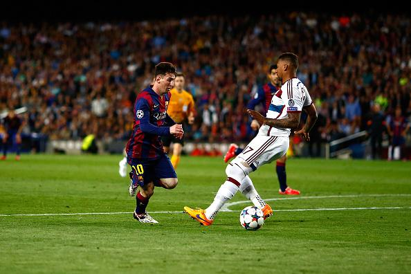 Messi Dribbling Boateng In The UCL
