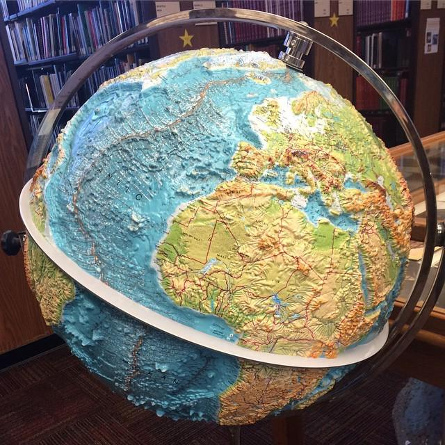 Map dragons on twitter awesome 3d topo globe at stanfords map dragons on twitter awesome 3d topo globe at stanfords brannerlibrary check out the mid ocean ridge httptkxgmex376b httptbrsepzqyrx gumiabroncs Gallery