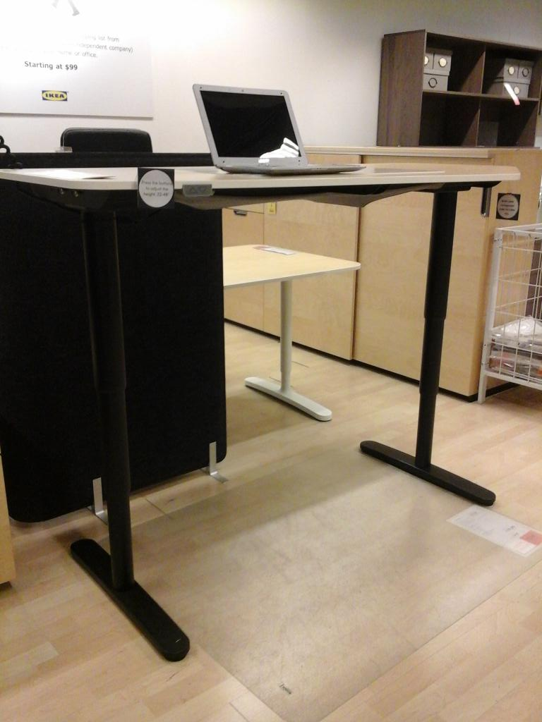 Ikea Stoughton On Twitter With The Bekant Electric Sit Stand Desk You Can Raise And Lower Your Simple Touch Of A
