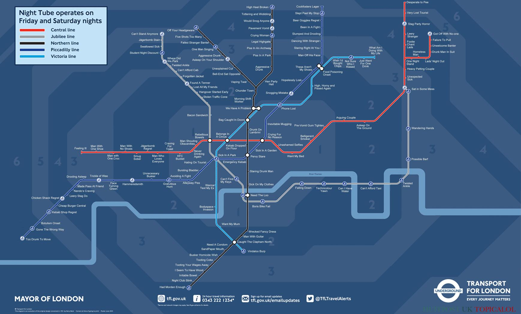 New Night Tube map with honest station names. (done for @HuffPostUKCom with @Pandamoanimum ) http://t.co/bl4pX8p1at http://t.co/MvU8dLAaDs