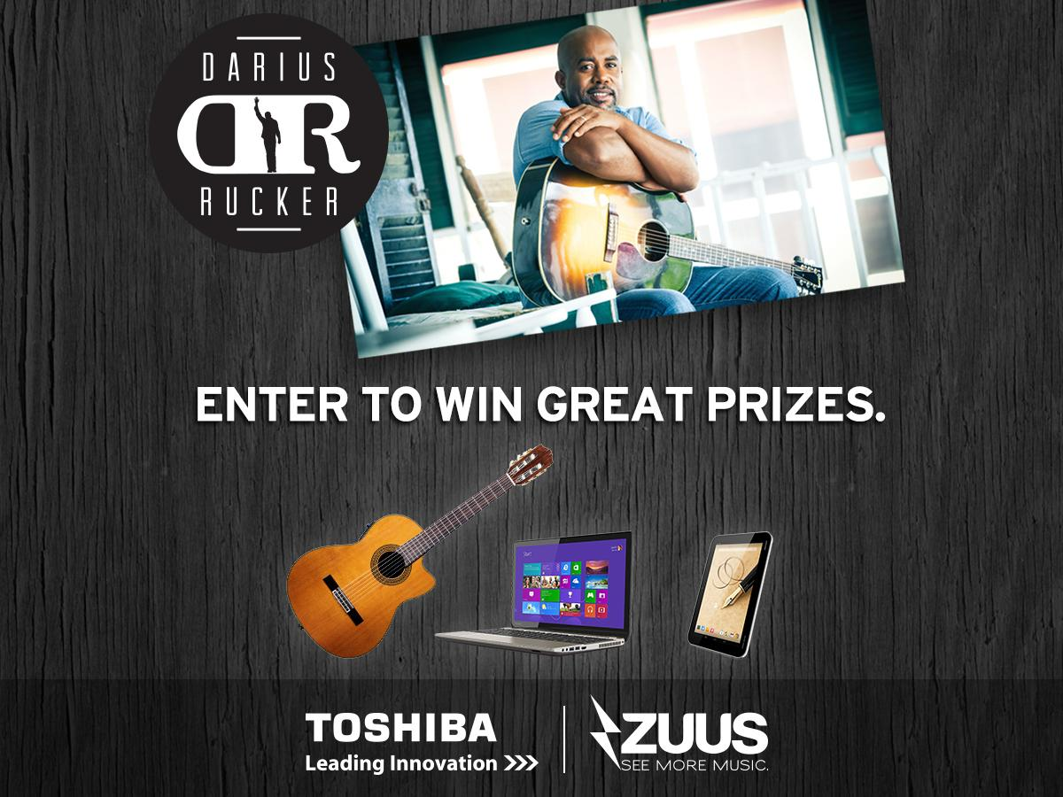 Enter the #SouthernStyle #sweeps to win @DariusRucker signed guitar + amazing @ToshibaUSA swag http://t.co/5CxsvOwFXC http://t.co/HtezKLGfVi