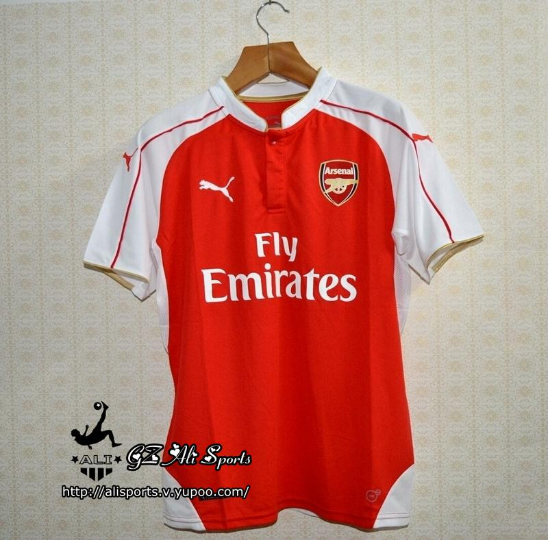 6967cbf9849 Premier League Arsenal 2015 16 Soccer Jersey http   www.aliexpress .com store product Top-Thai-Quality-ALEXIS-17-2015-2016-Red-White-Adult- Soccer-Jersey-OZIL ...