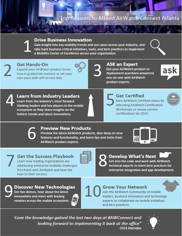 Vmware Workspace One On Twitter Infographic 10 Reasons To Attend