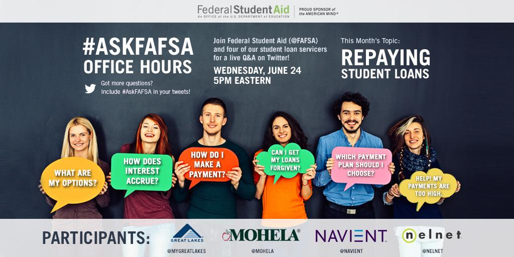 Thumbnail for June 2015 #AskFAFSA Office Hours: Repaying Student Loans
