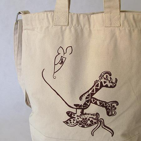#MarianaCastilloDeball limited edition tote draws on pre-Columbian codices http://t.co/Fk6rcC5L9R #Latitudes10Years http://t.co/8YYncS0T28